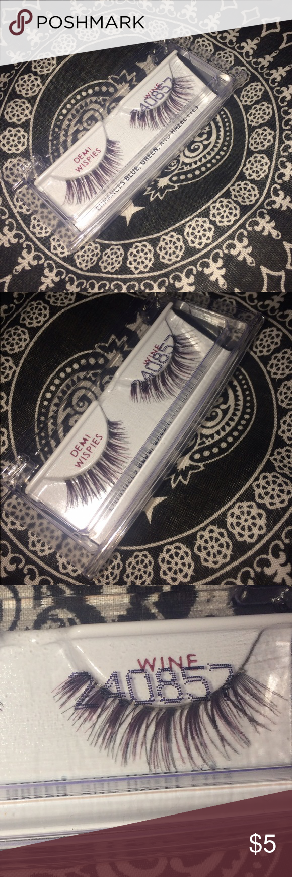 Demi Wispie lashes Ardell demi wispies in shade 'wine'. never been used. ardell Makeup False Eyelashes