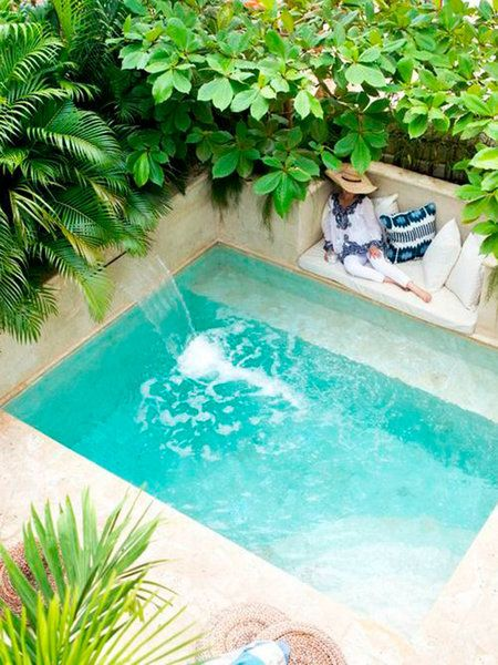 33 jardines con piscinas de ensue o piscinas peque os y for Piscina en jardin de 60 metros