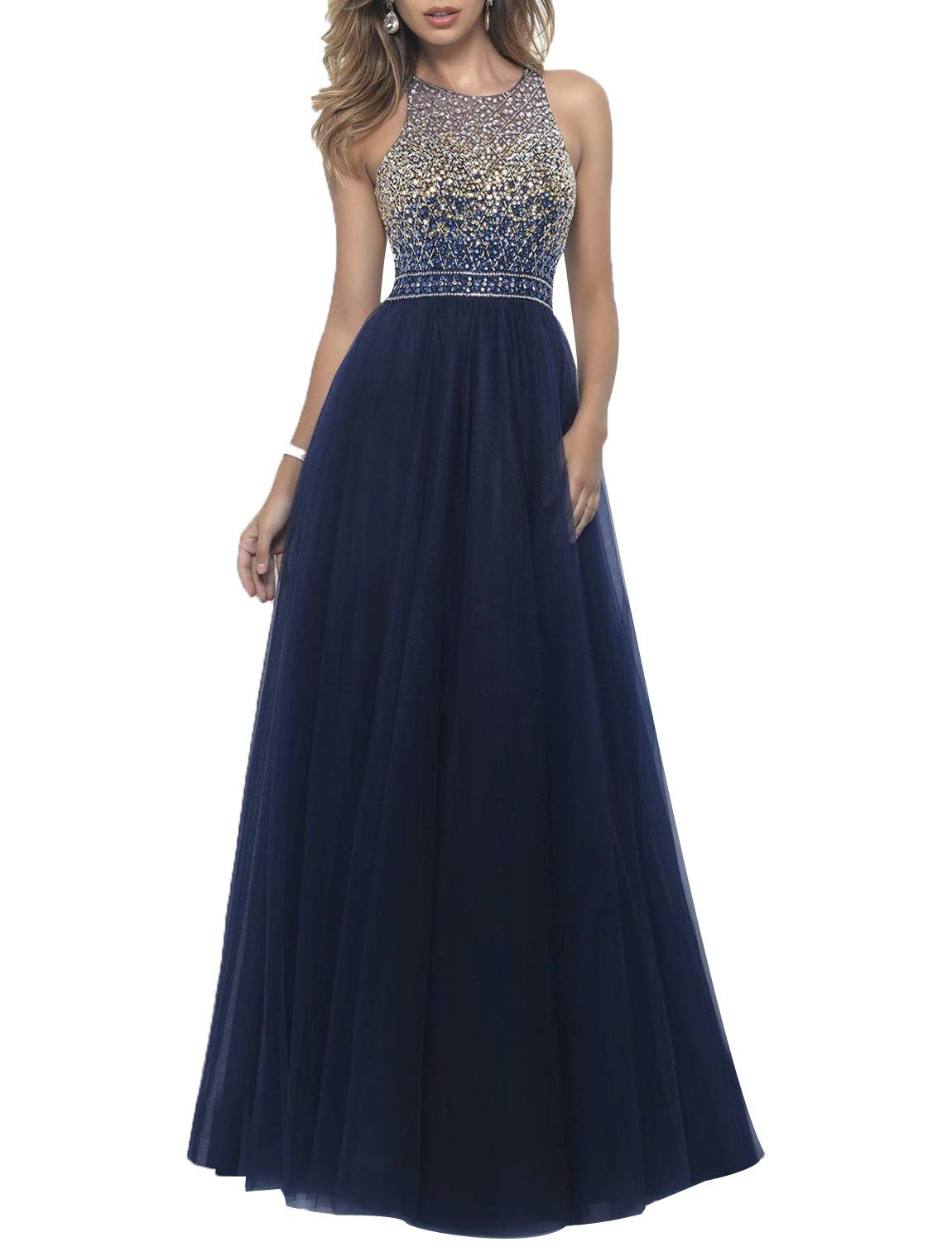 Gardenwed illusion sweetheart neckline beaded long evening prom