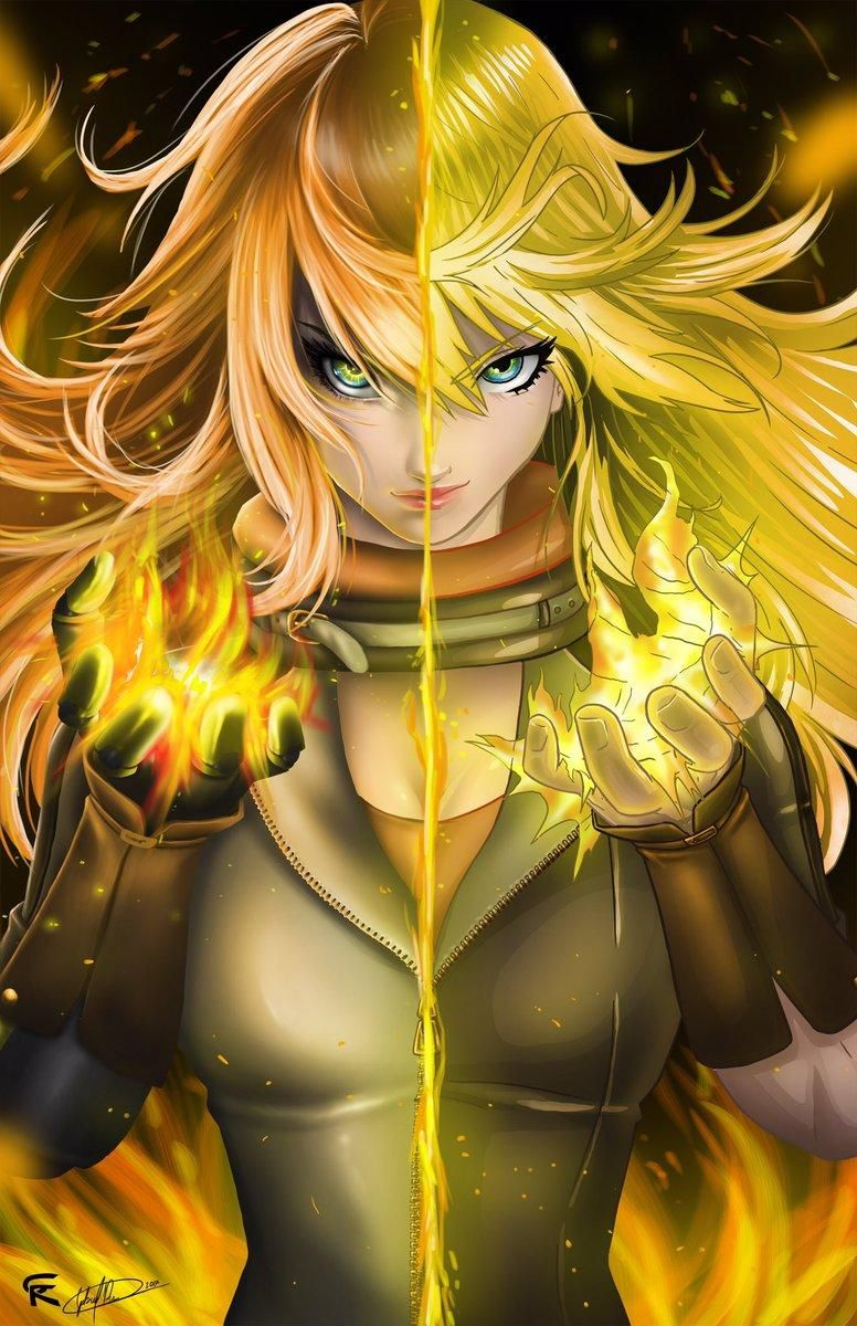 Yang Xiao Long The Dragon Rwby Rwby Rwby Anime Team Rwby