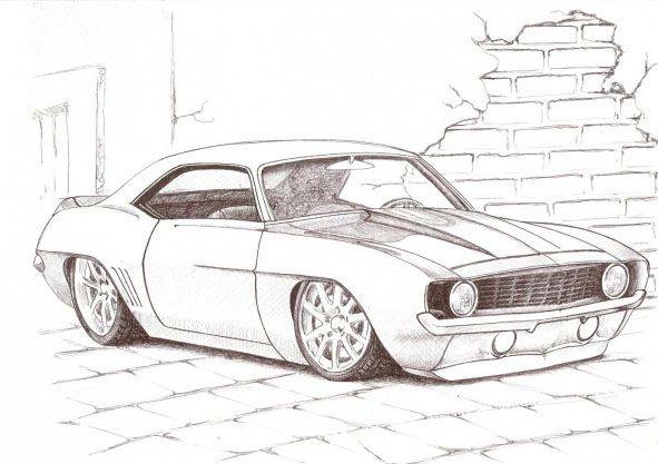 dibujos de autos tuning bellos | Dibujos a lápiz | Pinterest ...