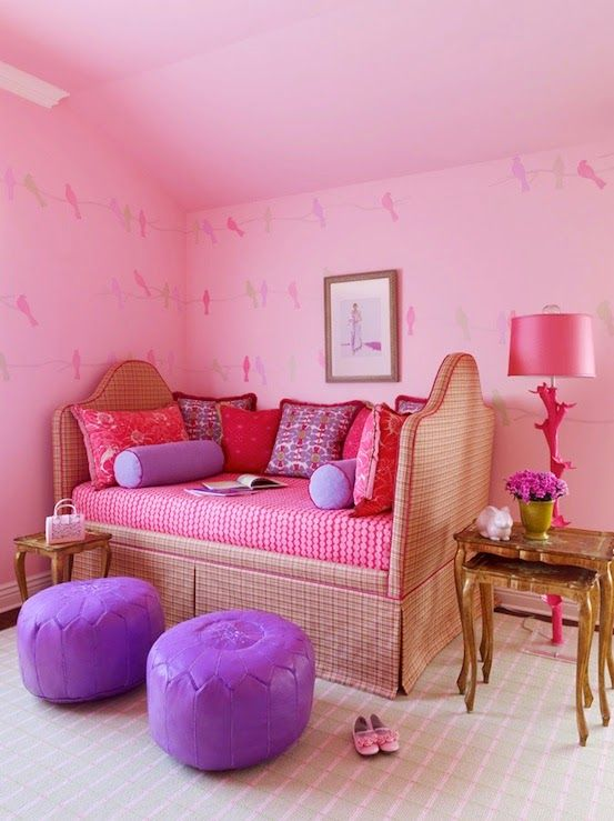 Great Color Combo- Purple and Pink | Pink bedroom for ...