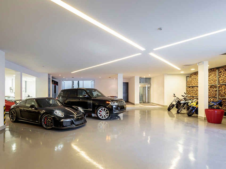 This Modern Pad Has A Drool Worthy Underground Garage Underground Garage Garage Design Garage House