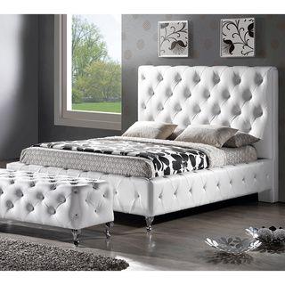 Sylvia Modern Queen Size Platform Bed Upholstered Platform Bed
