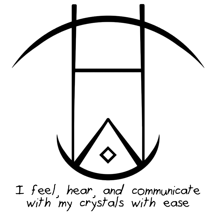 Sigil Athenaeum I Feel Hear And Communicate With My Crystals