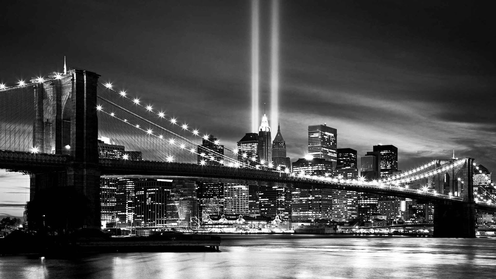 New York City Black And White wallpaper 1080p