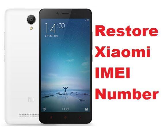 MIUI 7: How to Restore (repair) IMEI number in Xiaomi Redmi Note 2