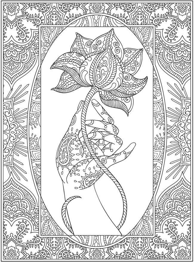 Rose In Hand Designs Coloring Books Coloring Pages Unique Coloring Pages