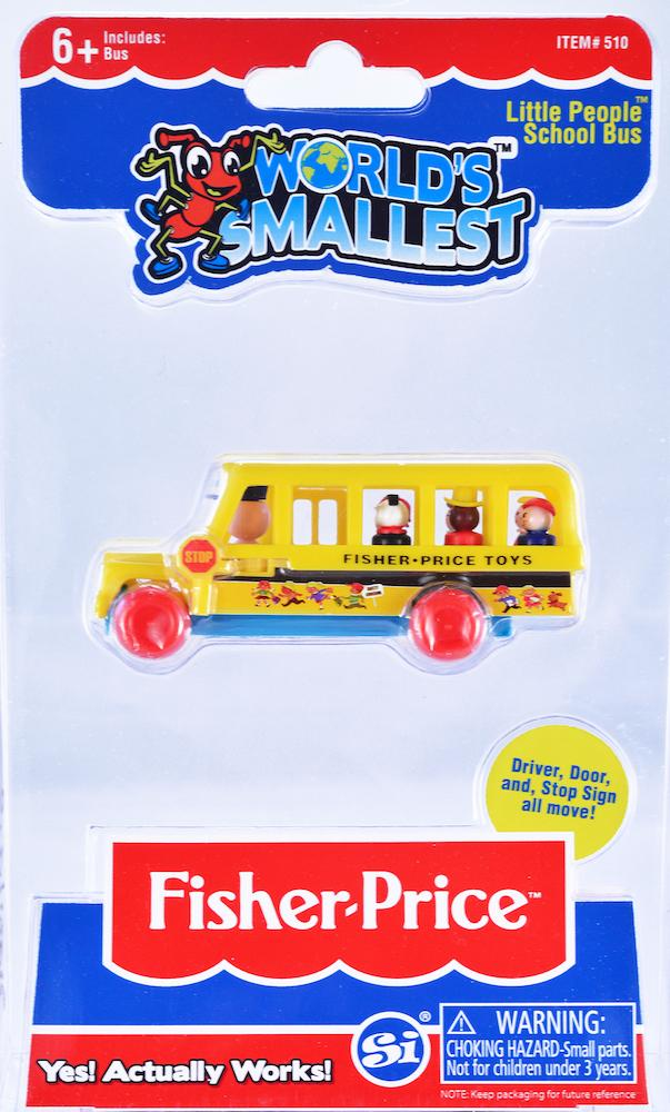 World's Smallest Fisher Price Little People School Bus in