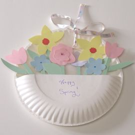 Paper plate flower basket jodelle music music groves this reminds paper plate flower basket jodelle music music groves this reminds me of a project we did with you when you babysat xo mightylinksfo
