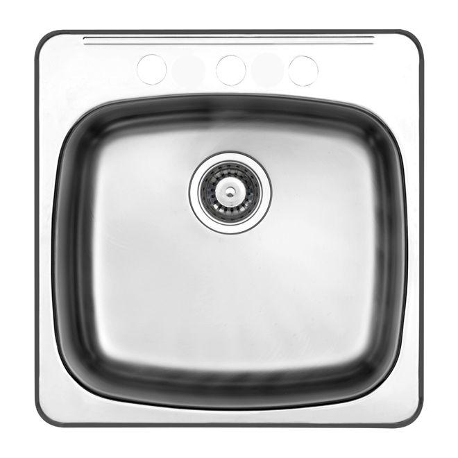 3 Hole Single Sink 20 X 5 10 Brushed Steel