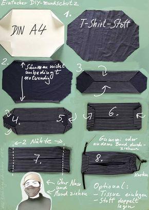 Einfacher Mundschutz zum Selbermachen / Simple DIY-Mask – Textile Geschichten