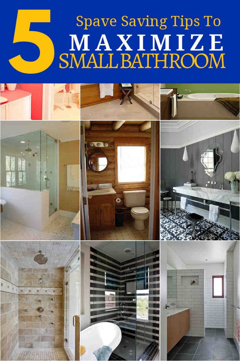 Another tight area in a tiny bathroom may be the tubshower area