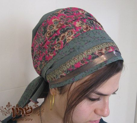 Etsy http://www.etsy.com/nl/listing/124175547/gorgeous-pink-green-tichel-head-covering