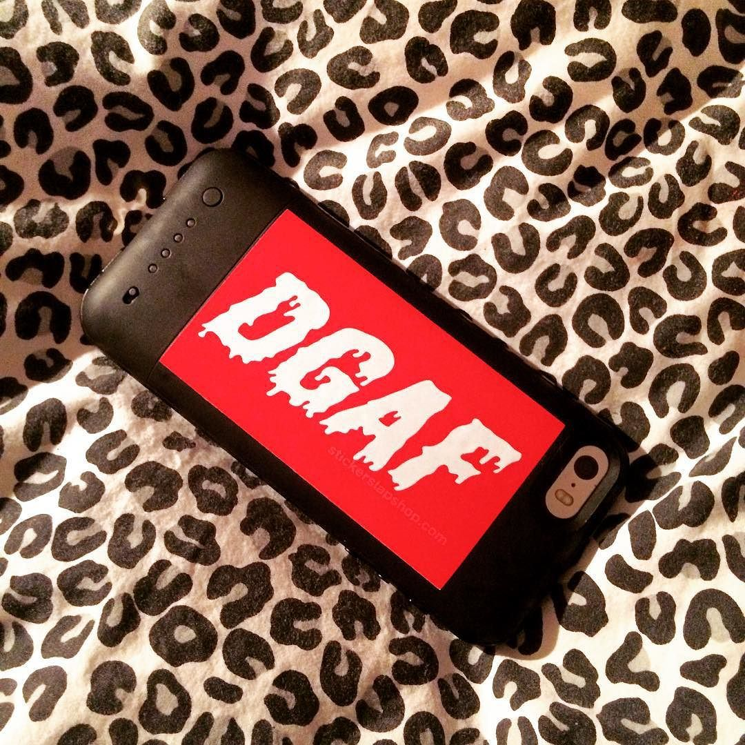 What do you DGAF about? Grab this awesome sticker for $1 from the blue link in our bio order 5 or more stickers and get free shipping!  #dgaf #sticker #stickers #stickerslap #iphone #onedollar #freeshipping #cheetah #cheetahprint #animal #red #fun #cute #pretty #bed #cozy #warm #fun #customize #gear #phone #want #shutupandtakemymoney #thisiswhyimbroke #chill #sick #dope #cool #customized #expressyourself