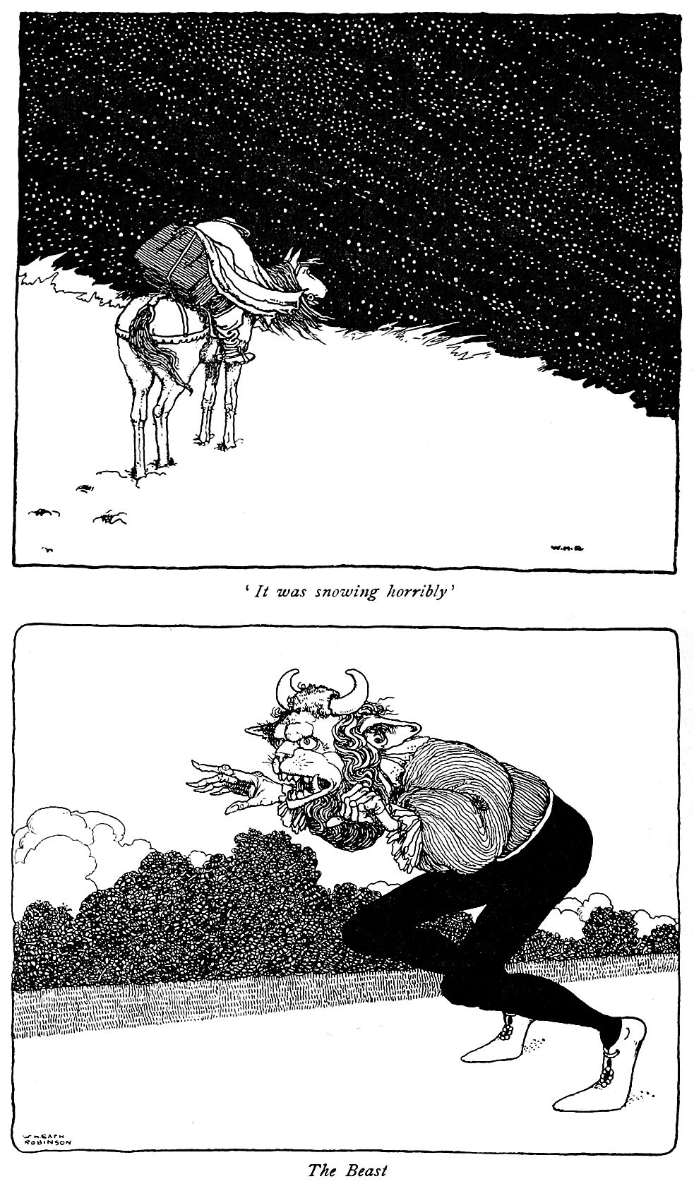 """'Beauty and the Beast' from """"Old-time Stories"""" (1921"""