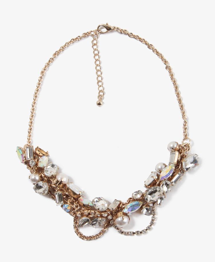 Sparkling Cluster Chain Necklace | FOREVER21 - 1025102438  https://allmouthandtrousers.wordpress.com/