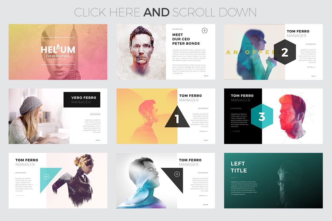 helium keynote templateslidedizer on @creativemarket, Modern powerpoint