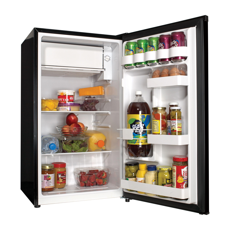Haier 3 Cu Ft Compact Refrigerator Black Hc33sw20rb