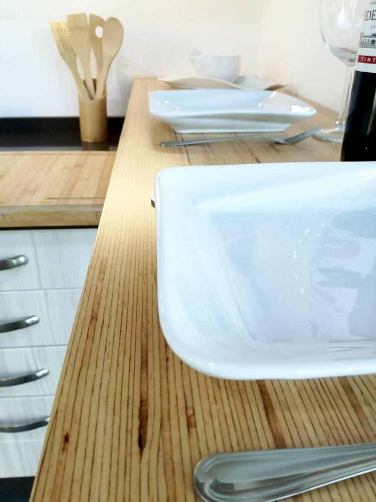 Encimera de cocina con tablero baubuche maderas santana la laguna exposici n tienda la laguna - Maderas santana tenerife ...