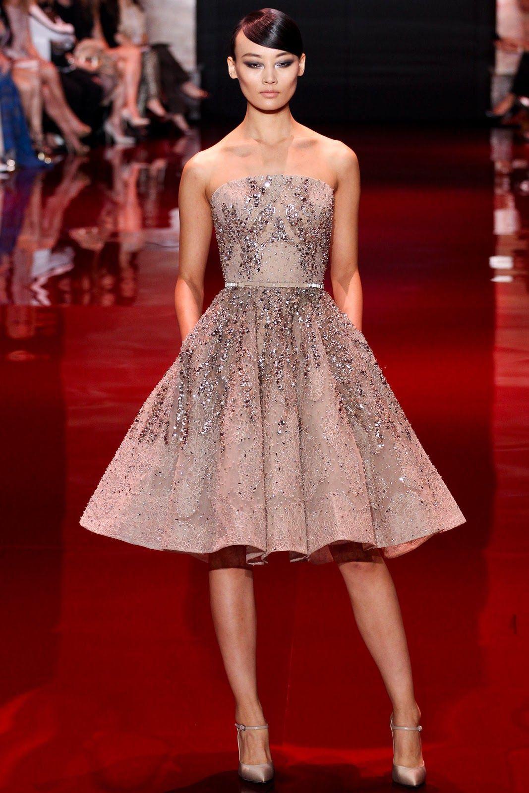 Semi formal wedding guest dresses  elie saab couture fall   womenus wear  Pinterest  Elie saab