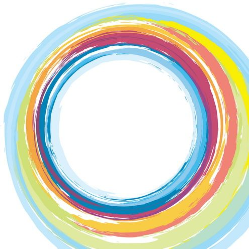 Painted Circles Circle Rainbow Circle Circle Tattoo