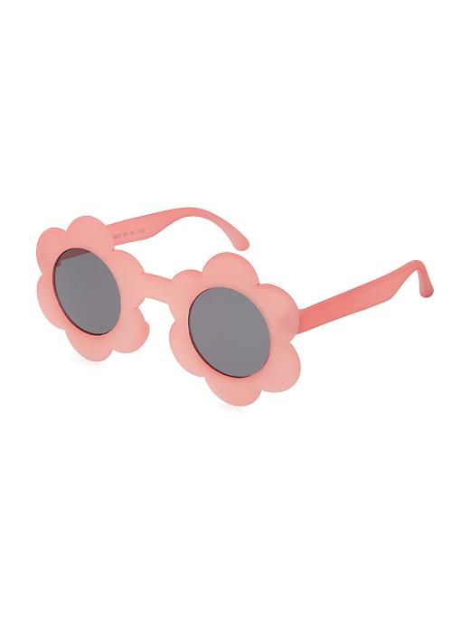 3 Pieces Round Flower Sunglasses Cute Outdoor Beach Sunglasses Eyewear for Kids