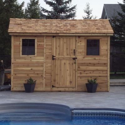 Outdoor Living Today Cabana 8 Ft X 12 Ft Western Red Cedar Garden Shed Cb128 Garden Shed Outdoor Living Shed