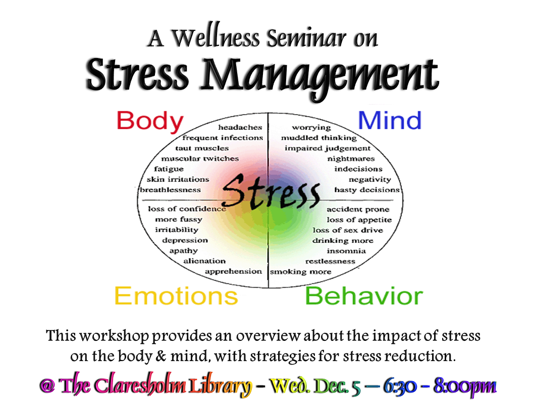 Stress Management Worksheets Wellness Seminar Stress