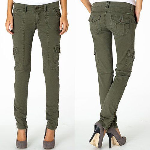 Brilliant Style NY Olive SatinTrim Cargo Pants  Women  Zulily