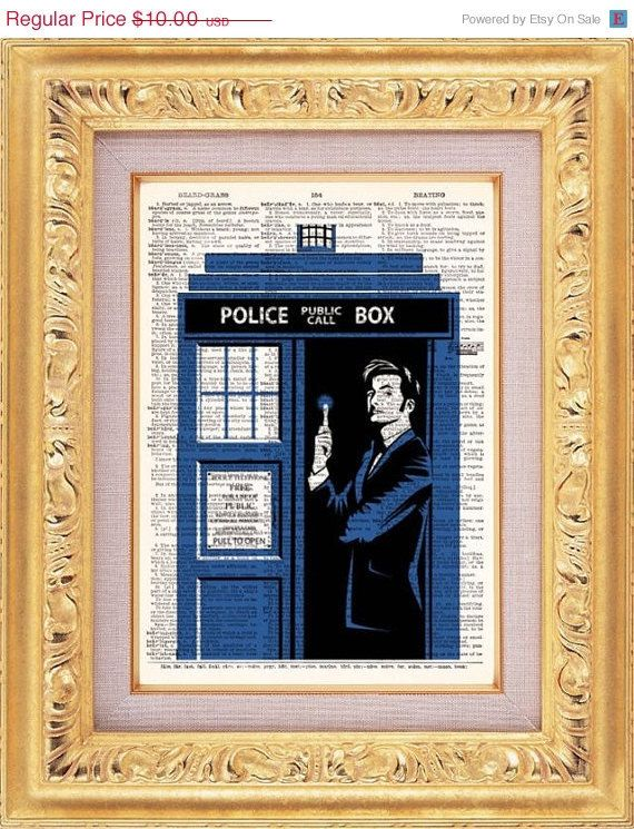 Buy 2 Get 1 FREE -David Tennant As Dr Who Vintage Dictionary Print Vintage Book Print Page Art Upcycled Vintage Book Art. $8.98, via Etsy.