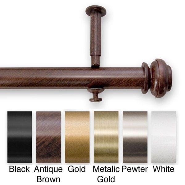 Bold Pole 90 To 144 Inch Adjustable Curtain Rod Set 144