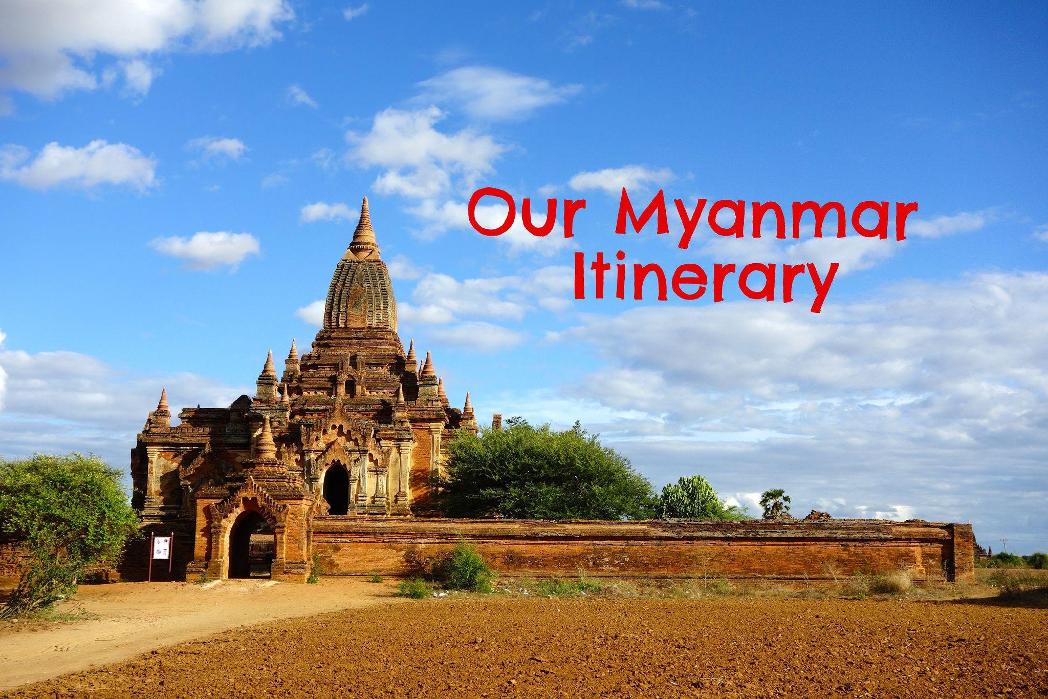 Our Myanmar itinerary with detailed travel tips per destination: Mandalay, Monywa, Bagan, Kalaw, Inle Lake and Yangon.