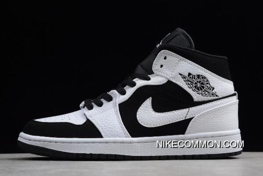 "buy popular b2885 efc88 Tax Free Air Jordan 1 Mid ""Tuxedo"" White/Black-White 554724 ..."