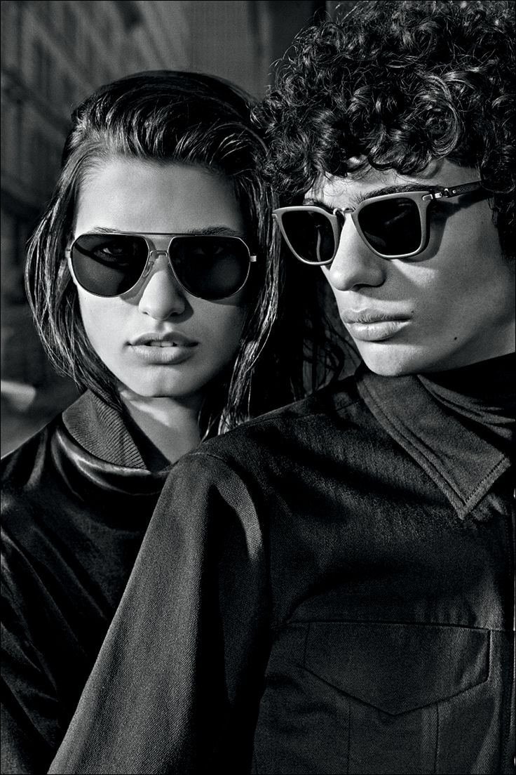 093b7eb9db Double vision. Eyewear from the Fall 2015 Calvin Klein Jeans ad campaign,  featuring the