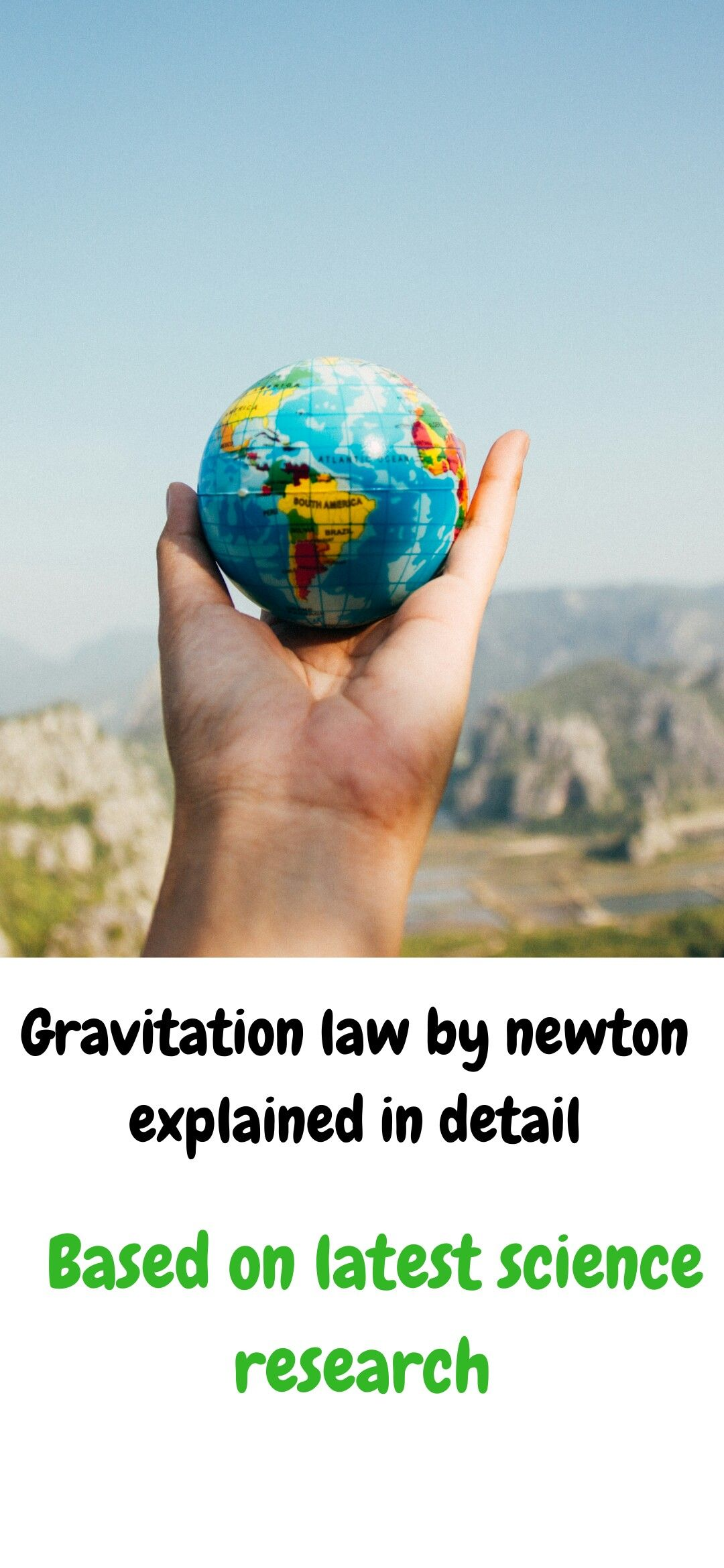 Gravitation Law Of Physics Explained In Detail In