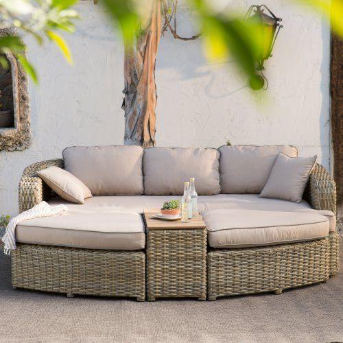 Tremendous Outdoor Belham Living Wingate All Weather Wicker Sofa Daybed Lamtechconsult Wood Chair Design Ideas Lamtechconsultcom