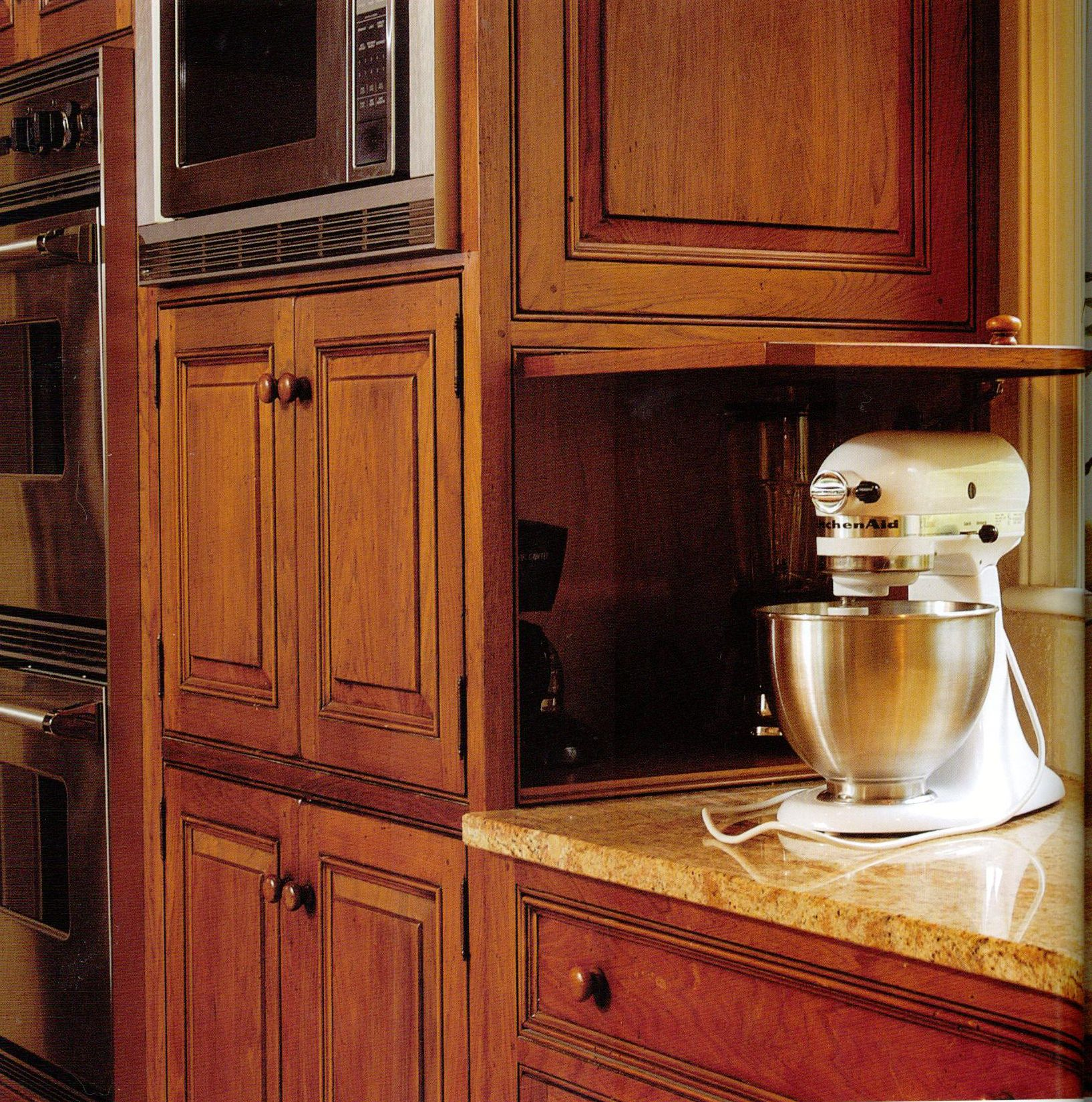 Appliance Garages Kitchen Cabinets Kitchen Appliance Garage Kitchen Remodel Pinterest Kitchen