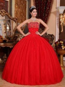 c4e1376db Red Sweet 16 Quinceanera Dress For 2013 Beading Custom Design ...