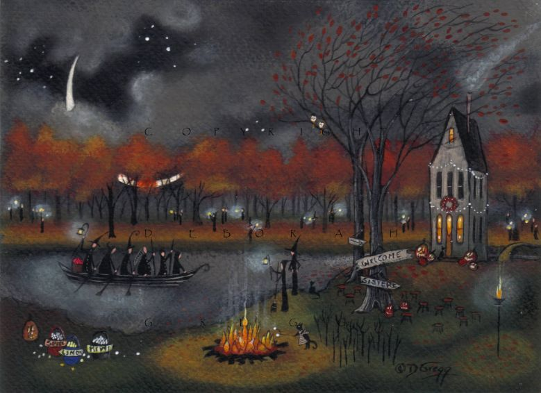 "Halloween - ""Marshmallow Meeting"" by Deborah Gregg"