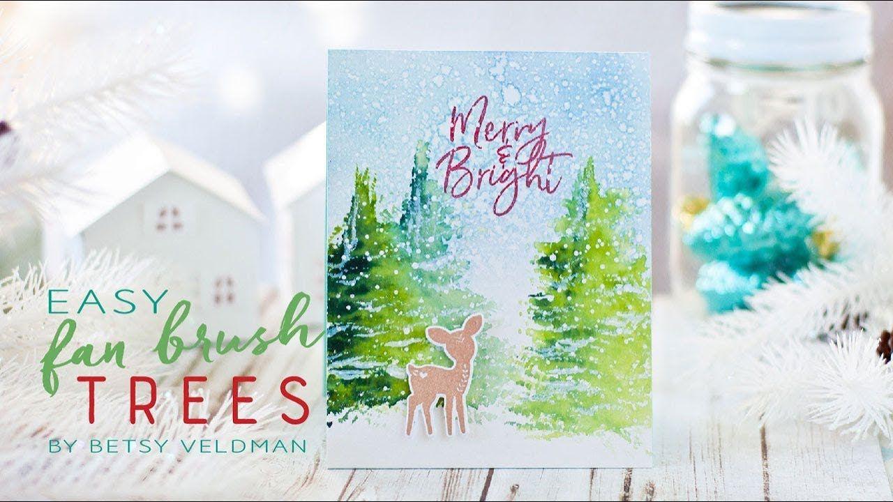 Betsy Veldman: PTI- Make It Monday #306: Easy Fan Brush Trees, (Pin ...