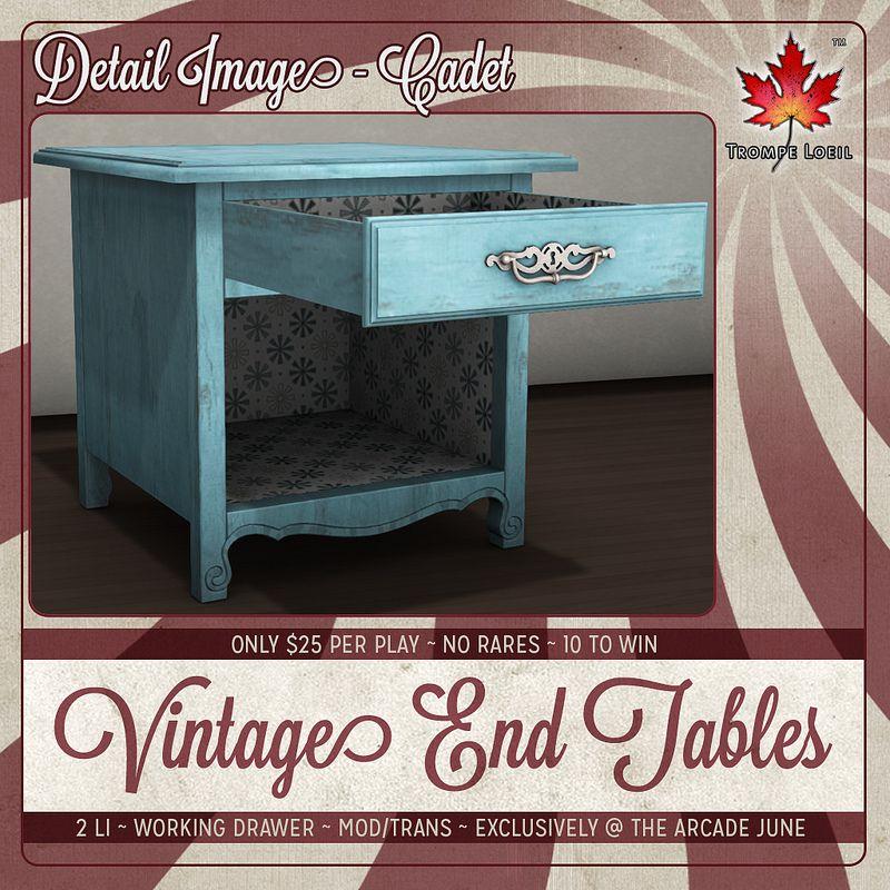 Trompe Loeil - Arcade June 2014 Vintage End Tables Detail square