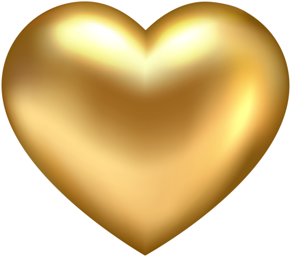 Golden Heart Transparent PNG Clip Art Heart clip art