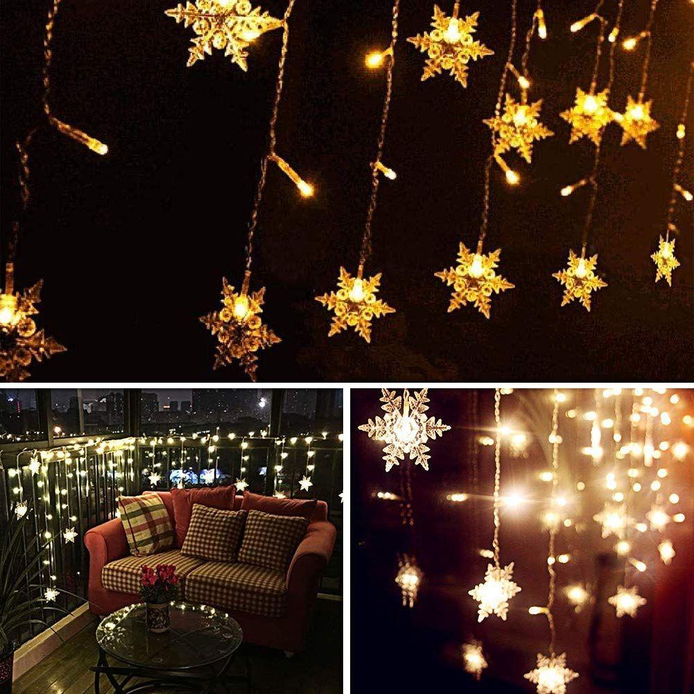 Weihnachtsdeko Innenbereich.Led Lichtervorhang Lichter Led Lichterkette Weihnachtsbeleuchtung