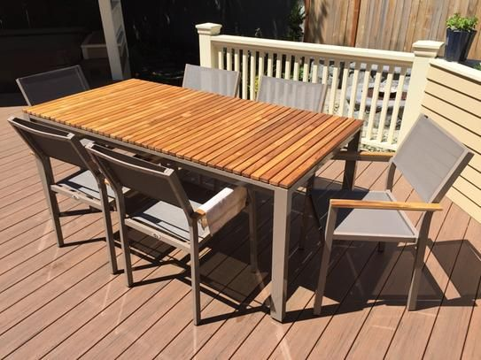 Perfect Hampton Bay Barnsdale Teak 7 Piece Patio Dining Set
