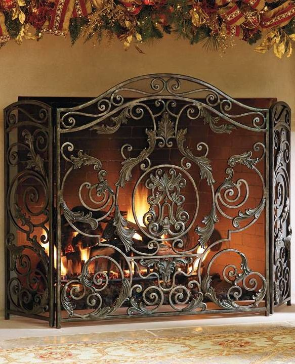 Avignon Fireplace Screens Frontgate Fireplace Screens Glass Fireplace Screen Fireplace