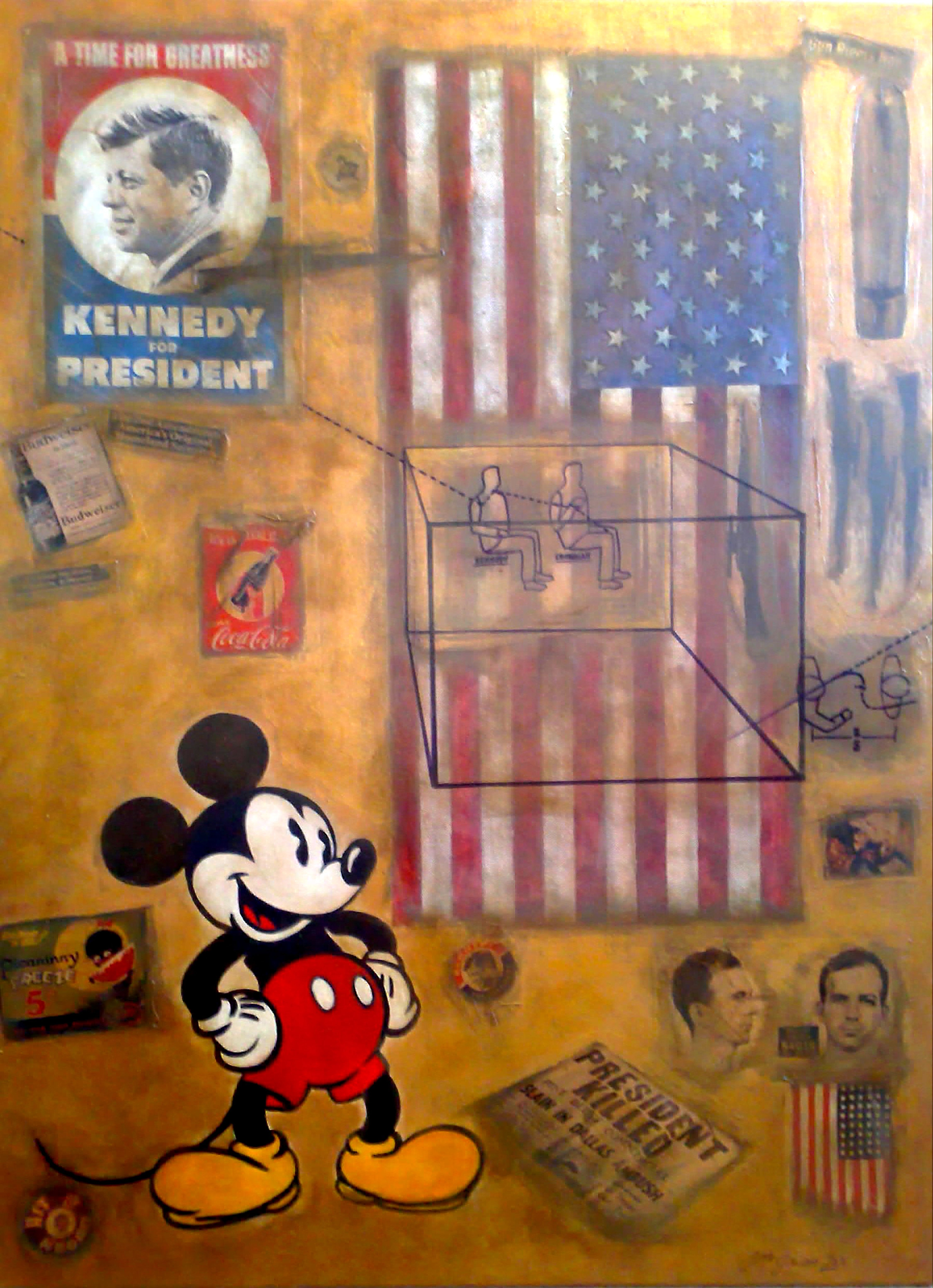 America's Dream / Assassination of JFK and comment on Pop Culture in USA accepting Guns, Racism  Hate being as acceptable as Bud, Coca-Cola and Mickey Mouse