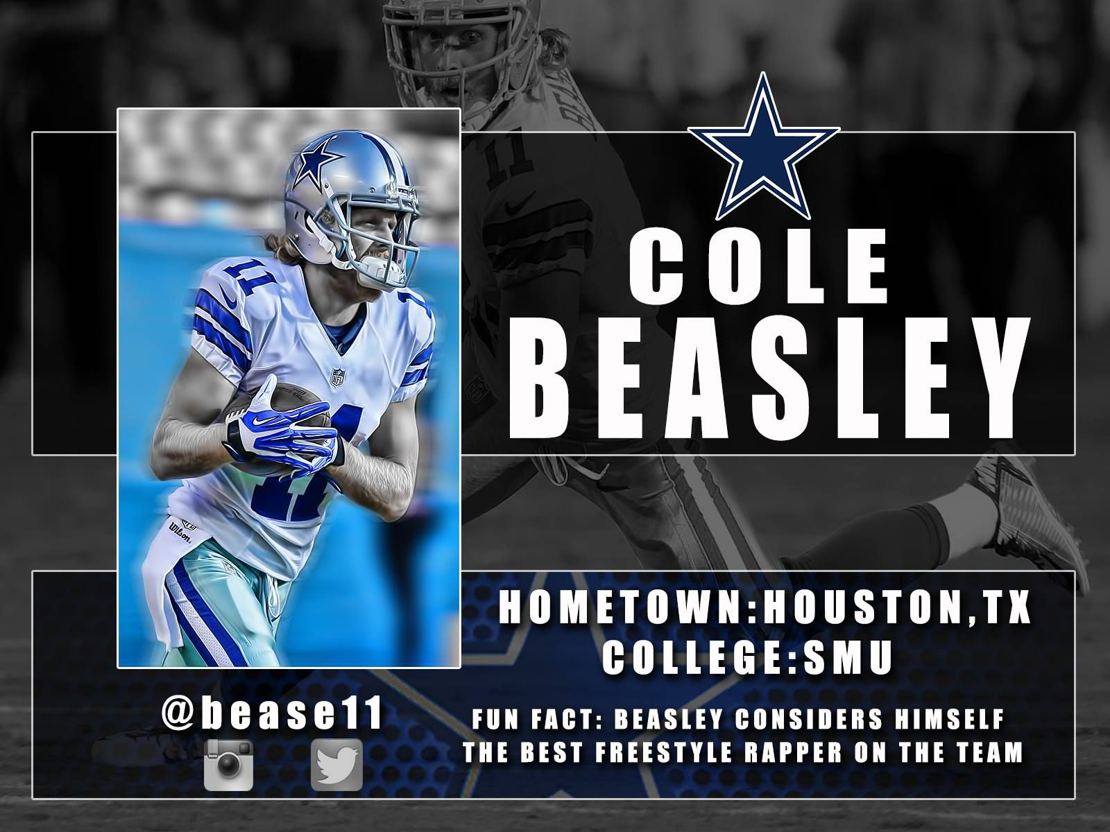 get to know cole beasley current dallas cowboys pinterest