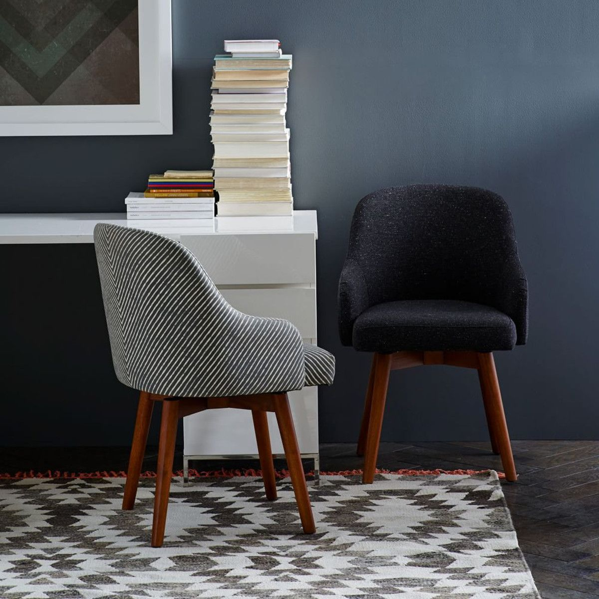 See this and similar West Elm office chairs - A nod to mid-century design our swivel-seated Saddle Office Chair is updated with a modern form to add a ... & Saddle Office Chairs | West Elm | Pinterest | Paint stripes Living ...