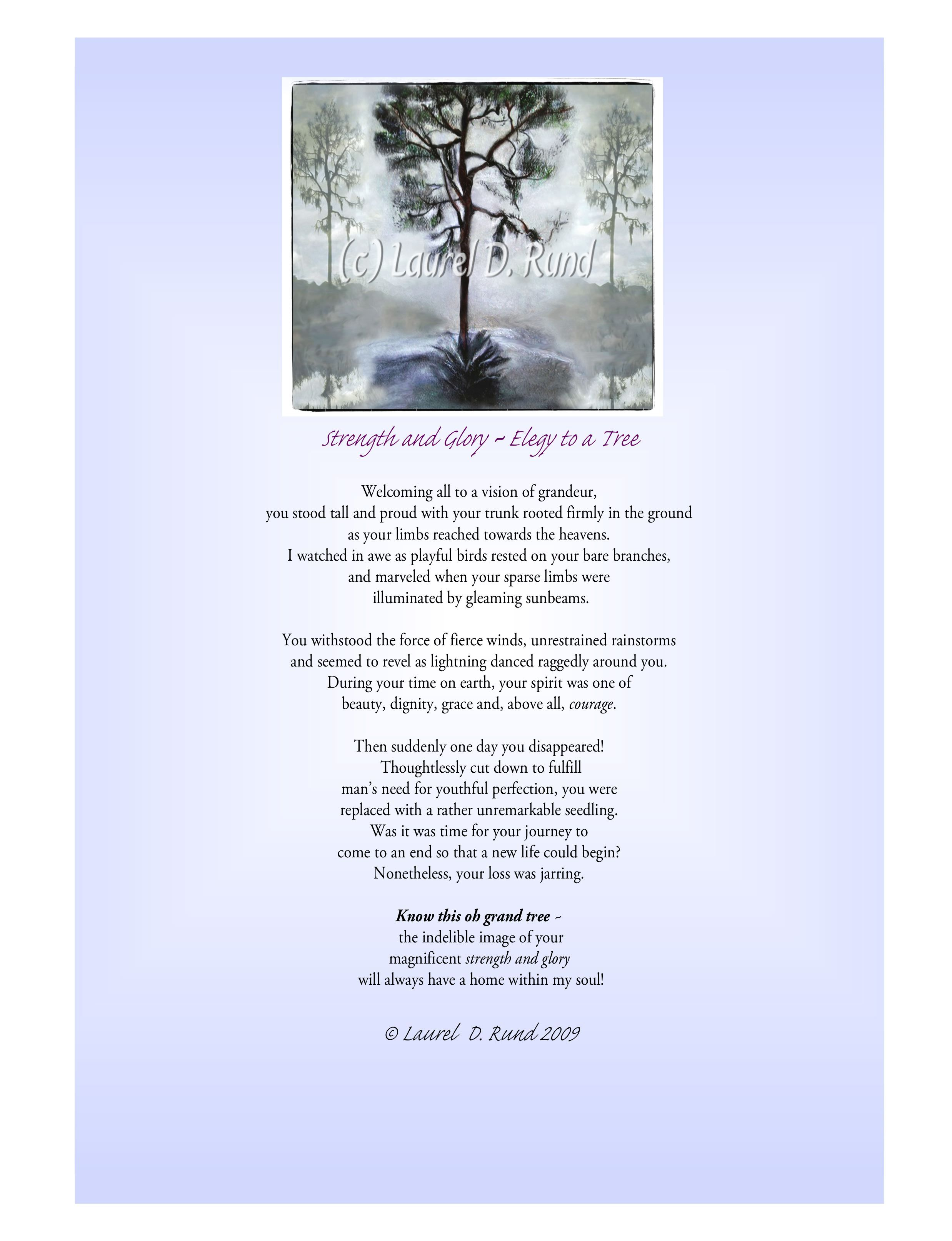Poem Written About The Strength Of A Tree If You Would Know Strength And Patience Welcome The Company Of Trees Hal Borland Tree Poem Poems Writing Poems